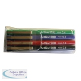 Artline 200 Assorted Fineliner (4 Pack) EK200