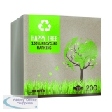 Luncheon Ultra Ply Happy Tree 8-Fold Napkins (2000 Pack) 3318RCHT