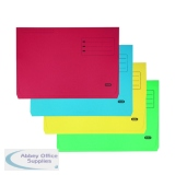 Elba Strongline Document Wallet Bright Manilla Foolscap Assorted (25 Pack) 100090138