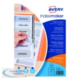 Avery Index Maker Clear Polypropylene 10-Part 05113081