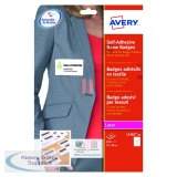 Avery Self Adhesive Name Badge 75x40mm 12 Per Sheet White (240 Pack) L4782-20