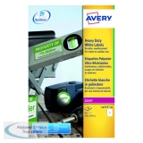 Avery White Heavy Duty Laser Labels 209 x 294mm (20 Pack) L4775-20