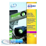 Avery Laser Label Heavy Duty 99x139mm 4 Per Sheet White (80 Pack) L4774-20