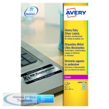 Avery Laser Label Heavy Duty 209x294mm 1 Per Sheet Silver (20 Pack) L6013-20