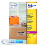 Avery Laser Parcel Label 210x297mm 1 Per Sheet Clear (25 Pack) L7567-25