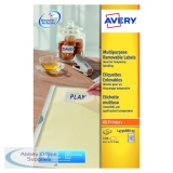 Avery Removable Labels 45.7x21.1mm 25 Per Sheet White (625 Pack) L4736REV-25