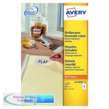 Avery Removable Labels 99.1x42.3mm 12 Per Sheet White (300 Pack) L4743REV-25