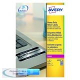 Avery Laser Label Heavy Duty 189x20mm 189 Per Sheet Silver (3780 Pack) L6008-20