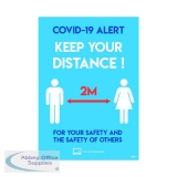 Avery Social Distancing Label 420x297mm A3 (2 Pack) COVSDA3
