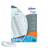 Avery Mylar Alpha A4 Bright White A-Z 26-Part Divider 05231061