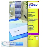 Avery Laser Address Labels 63.5x38.1 21 Per Sheet Clear (525 Pack) L7560-25