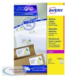 Avery Ultragrip Laser Address Labels QuickPEEL 63.5x38.1mm 21 Per Sheet White (840 Pack) L7160-40