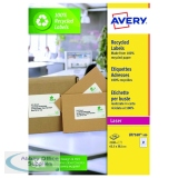 Avery Recycled Laser White Address Label 63.5 x 38.1mm 21 Per Sheet (2100 Pack) LR7160-100