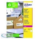 Avery Recycled Laser White Parcel Label 199.6 x 289.1mm 1 Per Sheet (100 Pack) LR7167-100