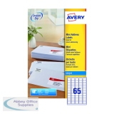 Avery Inkjet Mini Labels 38.1x21.2mm 65 Per Sheet White (1625 Pack) J8651-25