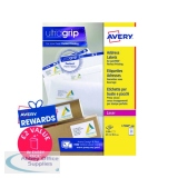 Avery Ultragrip Laser Address Labels QuickPEEL 63.5x38.1mm 21 Per Sheet White (2100 Pack) L7160-100