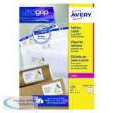 Avery Ultragrip Laser Parcel Labels 99.1x67.7mm 8 Per Sheet White (800 Pack) L7165-100