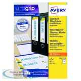 Avery Lever Arch Filing Labels 200x60mm (100 Pack) L7171-25
