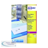 Avery Laser Address Labels 99.1x38.1 14 Per Sheet Clear (350 Pack) L7563S