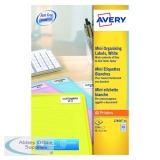 Avery Mini Laser Labels 46mmx11.11mm 84 Per Sheet White (2100 Pack) L7656-25
