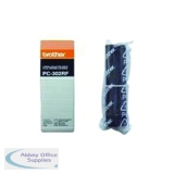 Brother Black Thermal Transfer Film Ribbon (2 Pack) PC302RF