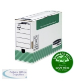 Fellowes Bankers Box Green Transfer File Foolscap 120mm (10 Pack) 1179201