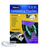 Fellowes A4 Self Adhesive Enhance Laminating Pouches 160 Micron (100 Pack) 53022