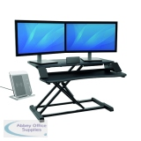 BB75149 - Fellowes Corsivo Sit Stand Workstation Black 8091001