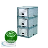 Fellowes Bankers Box System Storage Drawer Grey and White (5 Pack) 01820