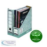 Fellowes Bankers Box Premium Magazine File Grey White (10 Pack) 186004