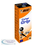 Bic Cristal Grip Ballpoint Pen Medium Black (20 Pack) 802800