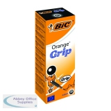 Bic Orange Cristal Grip Ballpoint Pen Black (20 Pack) 811925