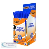 Bic Cristal Medium Blue Ballpoint Pen (50 Pack) 837360