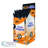 Bic Cristal Ballpoint Pen Medium Black (50 Pack) 837363
