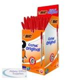 Bic Cristal Ballpoint Pen Medium Red (50 Pack) 837361