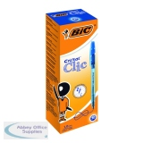 Bic Blue Cristal Clic Retractable Ballpoint Pen (20 Pack) 850733