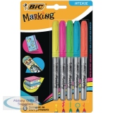 Bic Fine Colour Intense Assorted Permanent Markers 942865