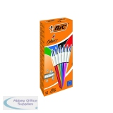 Bic 4 Colours Ballpoint Pens Medium Point Assorted (12 Pack) 964775
