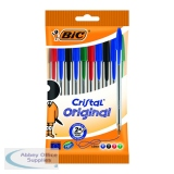 Bic Cristal Medium Ballpoint Pens Medium Assorted (10 Pack) 830865