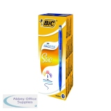 Bic Atlantis Stic Medium Blue Ballpoint Pen (12 Pack) 837387