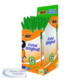 Bic Cristal Medium Green Ballpoint Pen (50 Pack) 8373629