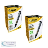 BIC Marker Perm Chisel Tip Black Buy One Get One Free BC810745
