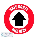 Social Distance Marker Safe Route One Way 235mm SDM06