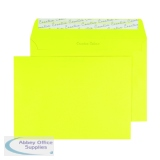C5 Wallet Envelope Peel and Seal 120gsm Banana Yellow (250 Pack) BLK93019
