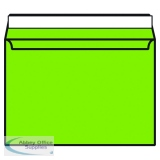 Lime Green C4 Wallet Envelope Peel and Seal 120gsm (250 Pack) BLK93022