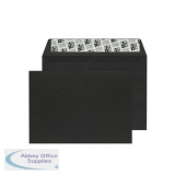 Jet Black C6 Wallet Envelope Peel and Seal 120gsm (250 Pack) BLK93032