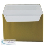Metallic Gold C6 Wallet Envelope Peel and Seal 130gsm (250 Pack) 113