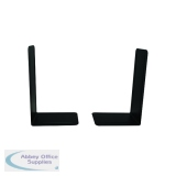 Giant 215mm Black Metal Bookends (2 Pack) 0441101