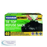 Visqueen Ultimate Black Tie Top Refuse Sack 80 Litre RS057769