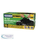 Visqueen Ultimate Black Tie Top MultiPurpose Sack 120 Litre RS057771